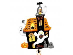 ballon halloween maison hantee