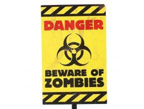 Dekorácia - nápis Nebezpečenstvo pred Zombíkmi