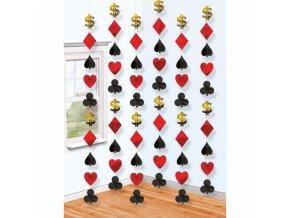 Visiaca dekorácia Casino 6 ks