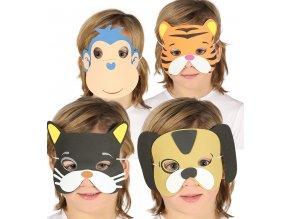 Papierové masky Zvieratá