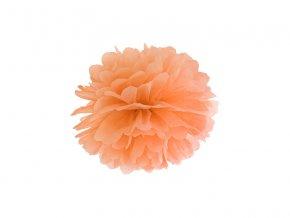Pompom v tvare oranžového kvetu 25 cm
