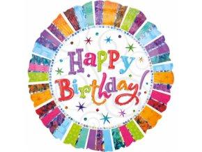 Fóliový balón šťastné narodeniny 81 cm
