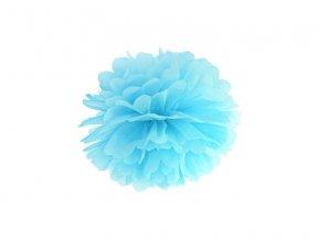 Pompom v tvare modrého kvetu 25 cm
