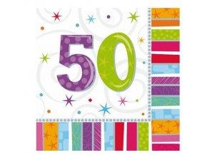 709 ubrousky 50 narozeniny 16 ks1