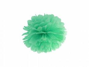 Pompom v tvare kvetu mätový 25 cm
