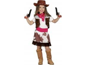Kostým detskej Pištolníčky (Veľkosti 10-12 rokov (výška 142-148cm))