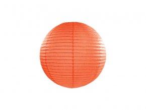 Okrúhly papierový lampión oranžový 20 cm