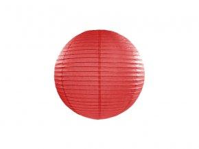 Okrúhly papierový lampión červený 20 cm
