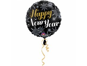 Fóliový balón Happy New Year - Silvester
