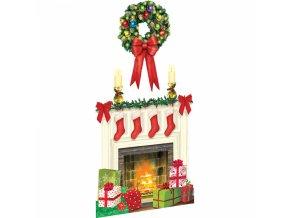 Dekorácia - Vianočný Krb