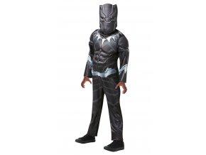 Detský kostým Black Panther Deluxe