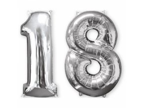 Foliovy balon 18 strieborny