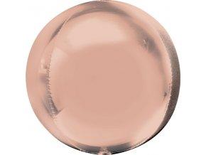 Ružovo-zlatý fóliový balón - guľa