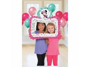 """Fóliový balón v tvare selfie rámčeka """"Minnie Mouse"""""""