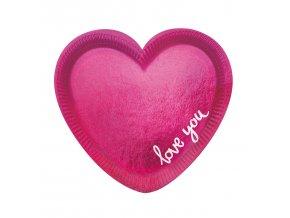 """Taniere v tvare srdca """"Love you"""" 6 ks"""