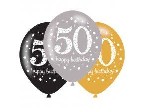 Latexové balóny narodeninové číslo 50 - 6 ks