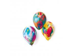 Latexové balóny mix farebné mramorové 18 cm - 8 ks