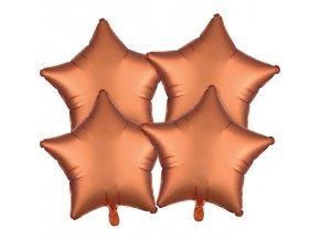 Set balónov hviezdy - jantár