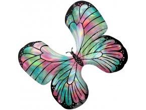 Fóliový balón holografický motýľ 76 x 66 cm