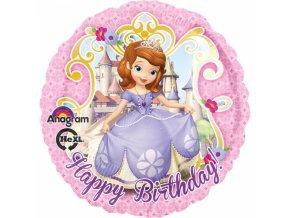 Fóliový balón Sofia Prvá - Happy Birthday 43 cm