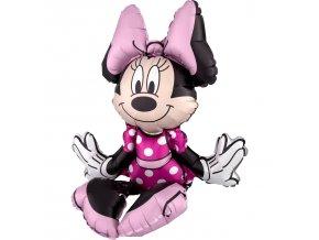 Fóliový balón sediaca Minnie Mouse