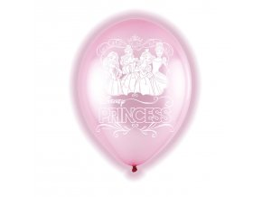 Latexové balóny LED Disney Princezné 5 ks