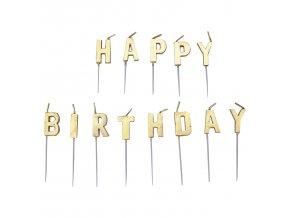 Tortové sviečky happy birthday
