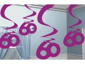 Dekorácia Víry 60.narodeniny ružové
