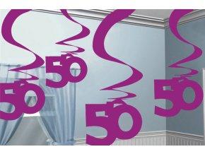 Dekorácia Víry 50.narodeniny ružové