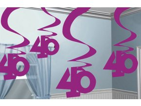 Dekorácia Víry 40.narodeniny ružové