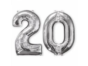 Foliovy balon 20 strieborny