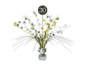 Dekorácia na stôl 30.narodeniny - Trblietavá zlatá
