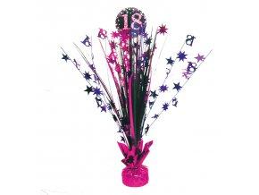Dekorácia na oslavu - trblietavé 18. narodeniny (ružová)