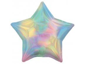 Fóliový balón - Holografická dúha v tvare Hviezdy