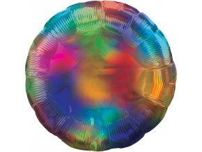 Fóliový balón - Holografická dúha v tvare Kruhu