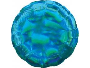 Fóliový balón - Holografický modrý Kruh