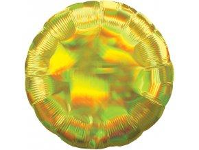 Fóliový balón - Holografický zlatý Kruh