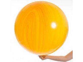velky oranzovy agate balon