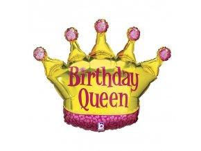 Fóliový balón - Narodeninová kráľovná