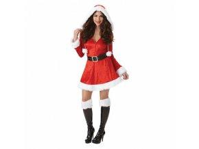Dámsky kostým  - Drzá slečna Claus (Veľkosť - Dospelí PLUS)