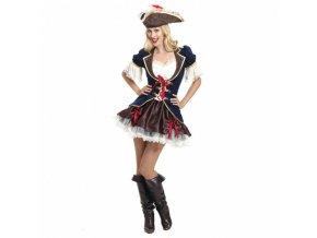 Dámsky kostým - Pirátska kapitánka (Veľkosť - Dospelí M)