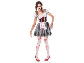 Dámsky kostým - Bavorská zombie slečna (Oktoberfest) (Veľkosť - Dospelí L)