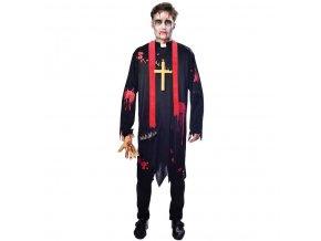 Pánsky kostým - Zombie farár (Veľkosť - Dospelí PLUS)