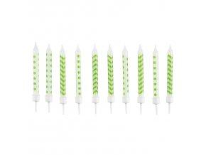 Narodeninové sviečky zelené