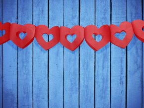 Srdcova girlanda červená 3m