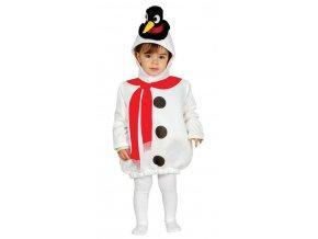 Detský kostým pre najmenších - Snehuliak
