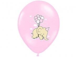 Lacny balon slon ruzovy