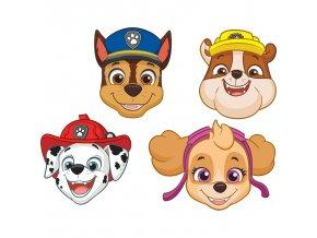 Papierové masky - Tlapková hliadka (Paw Patrol) 8ks