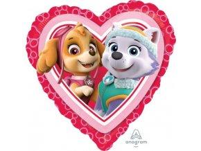 Fóliový balón Paw Patrol Love - Girl 43cm