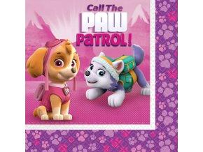 Servítky Tlapková hliadka (Paw Patrol) ružové